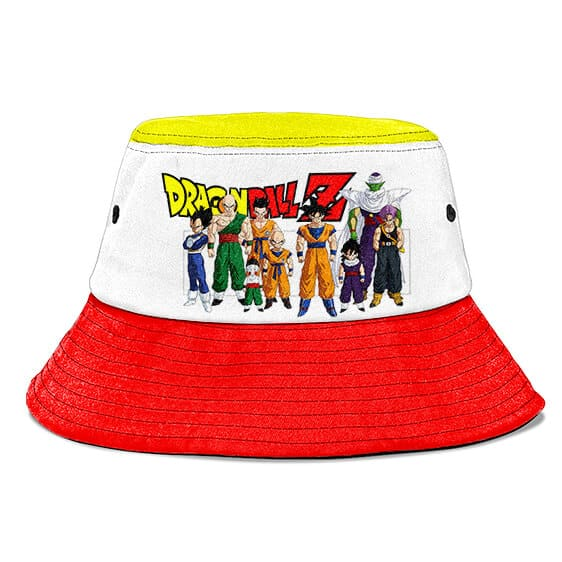 Z Fighters Dragon Ball Z White Red Yellow Cool Bucket Hat