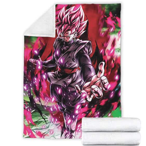 Dragon Ball Goku Black Super Saiyan Rose Sinister Pose Blanket
