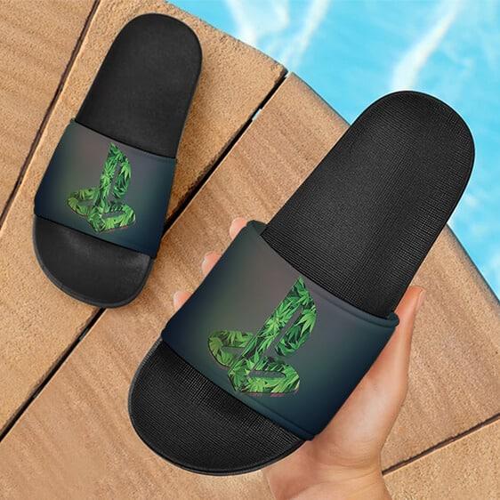 420 Marijuana Playstation Logo Inspired Hemp Slide Footwear