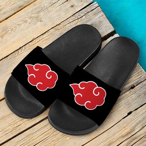 Akatsuki Red Cloud Clan Symbol Awesome Slide Slippers