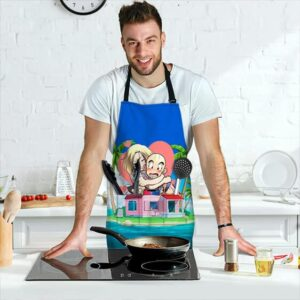 Android 18 Love Krillin Dragon Ball Z Cute and Awesome Apron