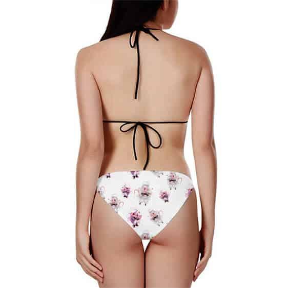 Android 21 Chibi Adorable White Pinkish Sexy Bikini Swimsuit