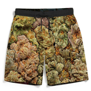 Assorted Collection Of Wonderful Weed Dope Men's Beach Shorts