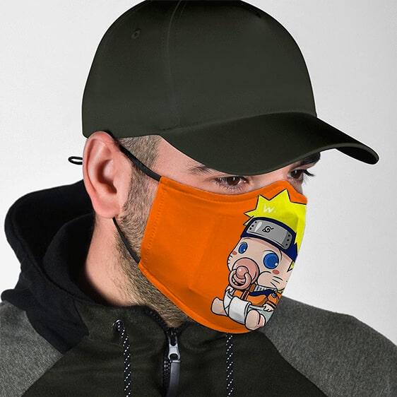 Baby Naruto Uzumaki on Pacifier Cute Cloth Face Mask