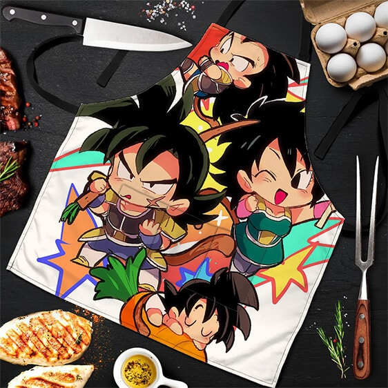 Bardocks Family Dragon Ball Super Cool Cute Powerful Apron