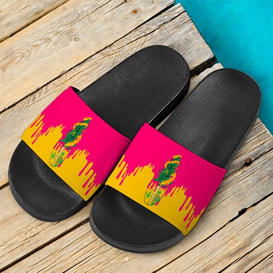 Budding Kush Joint Drip Pink Dope 420 Marijuana Slides Slippers