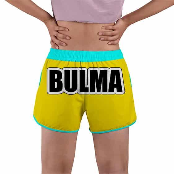 Bulma Costume Logo Dragon Ball Z Yellow Women's Beach Shorts