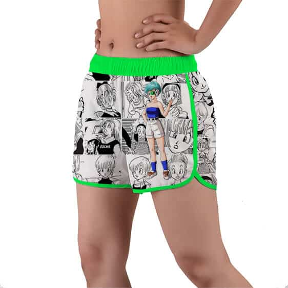 Bulma Wearing A Scouter Device DBZ Women's Beach Shorts