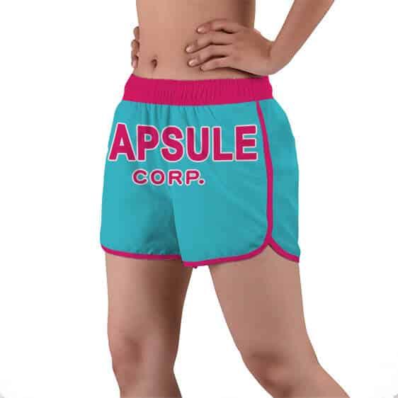 Capsule Corporation Logo Dragon Ball Z Women's Beach Shorts