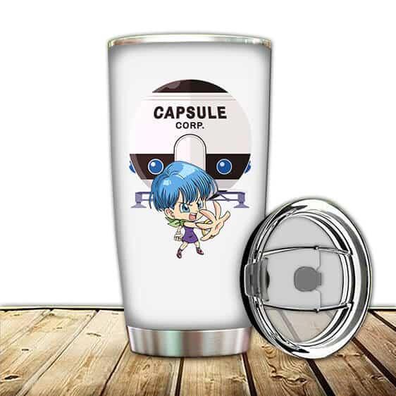 Chibi Bulma Capsule Corporation Dragon Ball Z Cute Tumbler