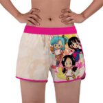 Chibi Bulma Chichi And Videl Dragon Ball Z Women's Swim Shorts