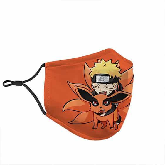 Chibi Naruto with Nine-Tailed Beast Kurama Face Mask