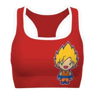 Chibi SSJ Goku Shenron Dragon Ball Z Cute Awesome Sports Bra