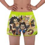 Chibi Vegeta Nappa And Raditz Funny Art Women's Beach Shorts