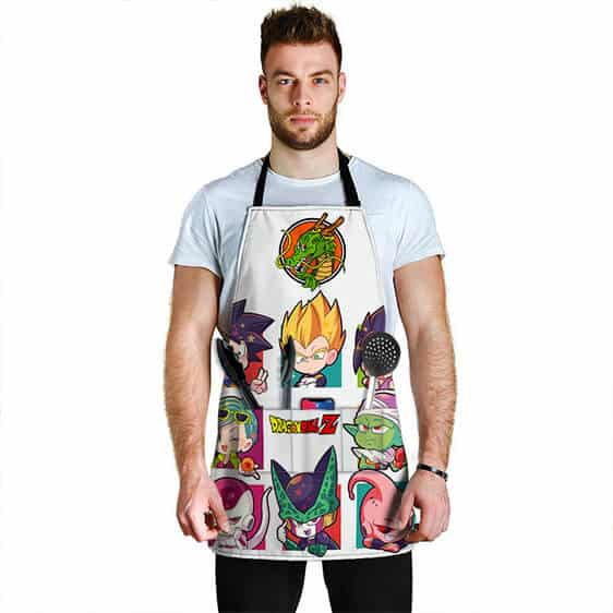 Chibi Z Fighters and Villains Dragon Ball Z Powerful Apron