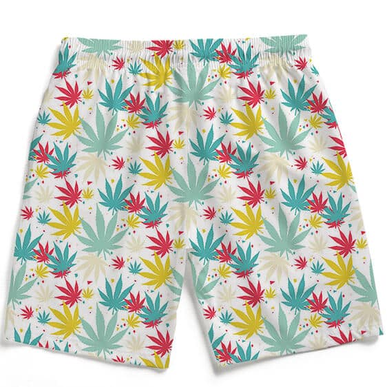 Bubbly Marijuana Weed Hemp Print Awesome Men's Beach Shorts