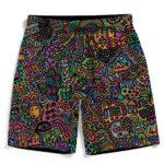 Colorful Psychedelic Marijuana Artwork 420 Weed Men's Shorts
