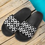 Cool Checkered Black & White 420 Marijuana Weed Slide Footwear