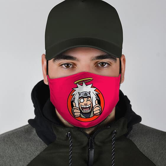 Crazy Hermit And Pervert Ninja Jiraiya Filtered Face Mask