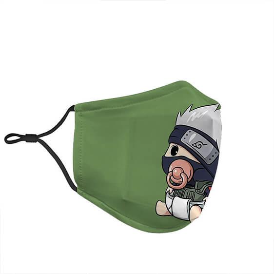 Cute Baby Kakashi Hatake Awesome Green Naruto Face Mask