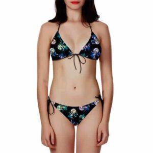 DBS Vegeta SSGSS Trippy Colorful Pattern Bikini Swimsuit