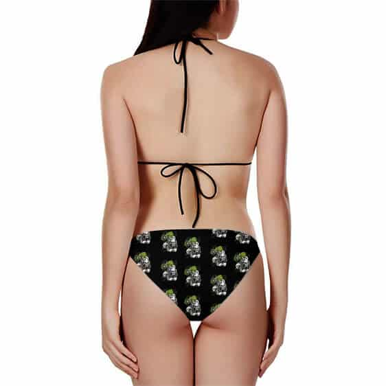 DBZ Broly Legendary Saiyan Pattern Black Sexy Bikini Swimsuit