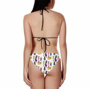DBZ Chi-Chi Bulma Launch Panchy Mermaid Sweet Bikini Swimsuit