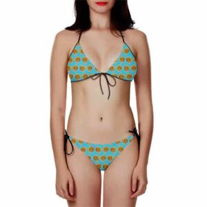 DBZ Future Trunks Super Saiyan Breezy Blue Two Piece Bikini