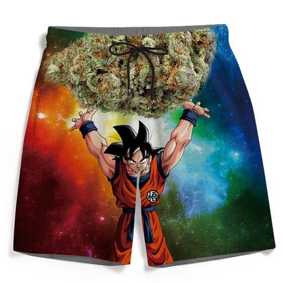 DBZ Goku Spirit Bomb Ganja Weed Colorful Awesome Boardshorts