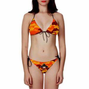 DBZ Kid Goten Orange Camouflage Dope Two Piece Bikini