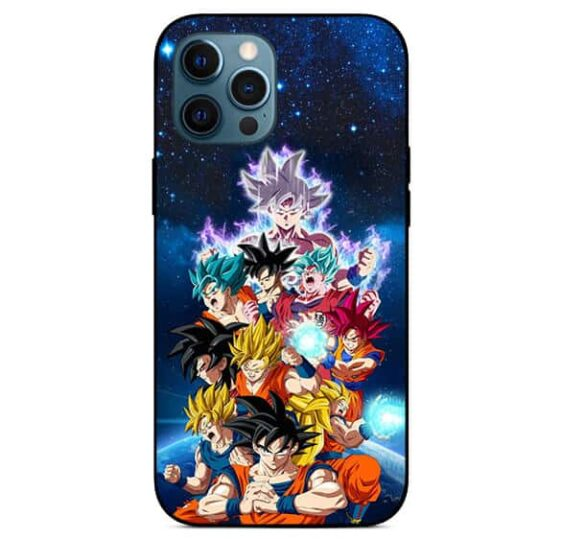 DBZ Majestic Son Goku Ultra Instinct All Forms Awesome iPhone 12 Max Pro Case