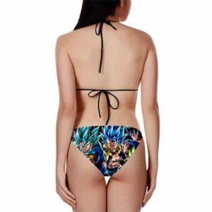 DBZ Majin Vegeta Gogeta Vegito Super Saiyan Bikini Swimsuit