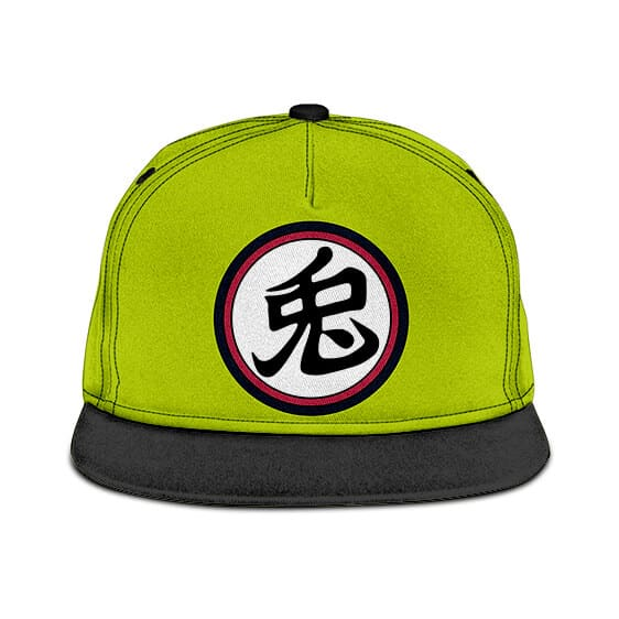 DBZ Monster Carrot Kanji Awesome Green Black Snapback Cap