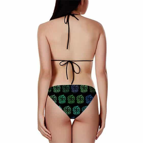 DBZ Neon Legendary Broly Pattern Fantastic Bikini Swimsuit