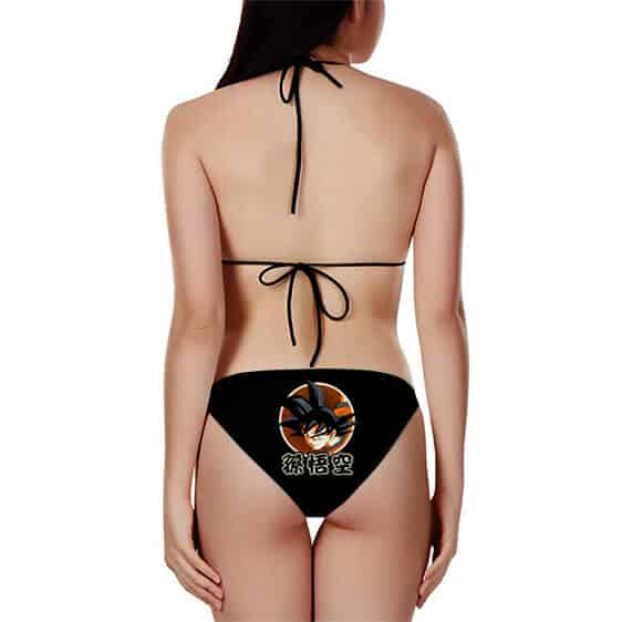 DBZ Son Goku Base Form Kakarot All Black Sexy Bikini Swimsuit