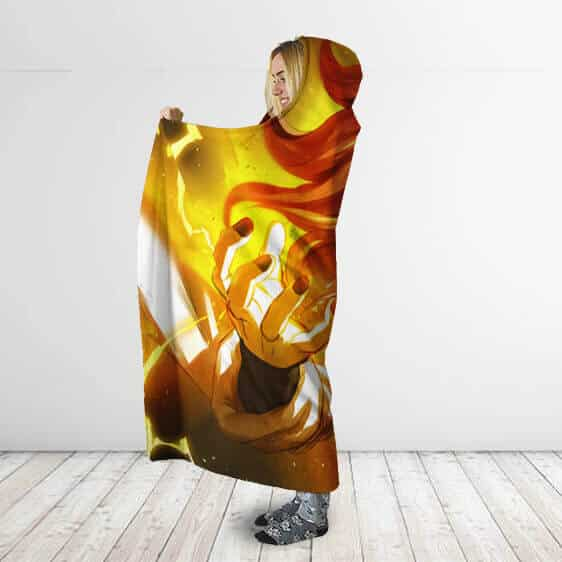 Dragon Ball Android 21 Human Form Power Surge Hooded Blanket
