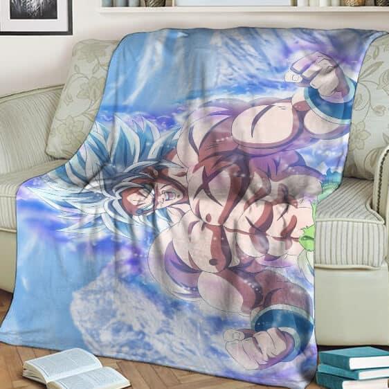 Dragon Ball Broly Ultra Instinct Fan Art Awesome Fleece Blanket