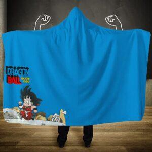 Dragon Ball Classics Young Goku Charging Off Hooded Blanket