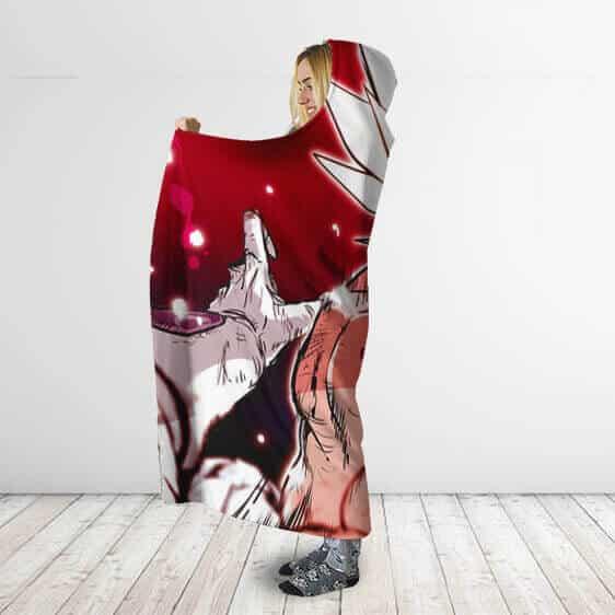 Dragon Ball Frieza Pov Legendary Saiyan Beat Up Hooded Blanket