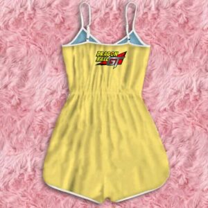 Dragon Ball GT Videl Pan Bulla Casual Fashion Yellow Romper