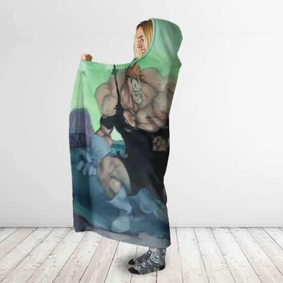 Dragon Ball Ginyu Force Recoome Versus Vegeta Hooded Blanket
