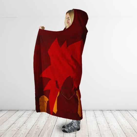 Dragon Ball Gogeta Super Saiyan 4 Vector Art Hooded Blanket