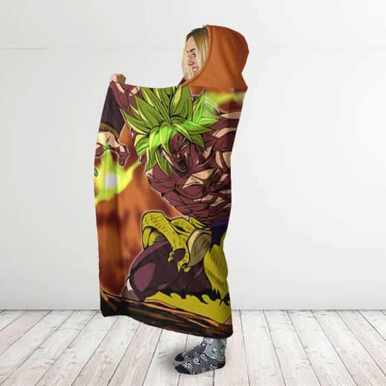 Dragon Ball Gogeta Super Saiyan God Vs Broly Hooded Blanket