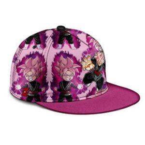Dragon Ball Goku Black Super Saiyan Rose Pink Dope Snapback Cap