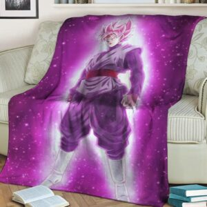 Dragon Ball Goku Black Super Saiyan Rose Wonderful Fleece Blanket