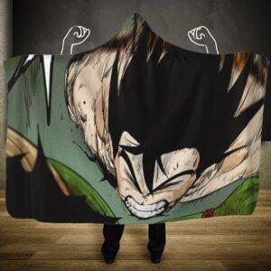 Dragon Ball Goku Versus Piccolo Final Moments Hooded Blanket