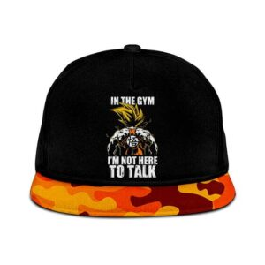 Dragon Ball Im Not Here To Talk Son Goku Orange Snapback Hat