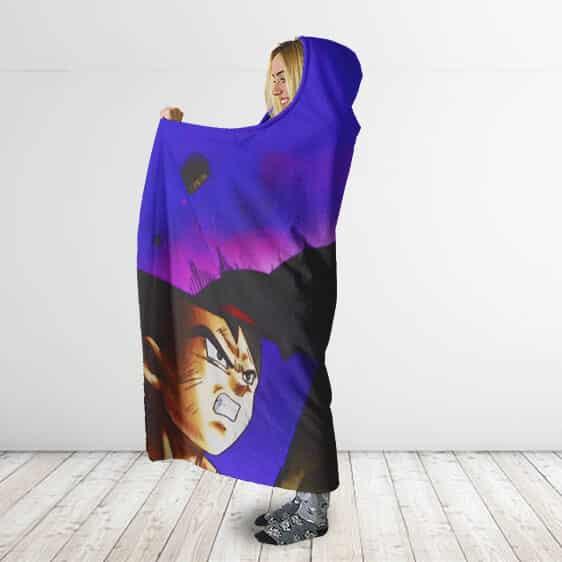 Dragon Ball Jiren Vs Goku Vegeta Android 17 Hooded Blanket