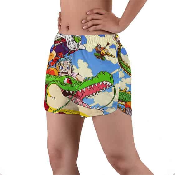 Dragon Ball Kid Goku And The Gang Women's Beach Shorts