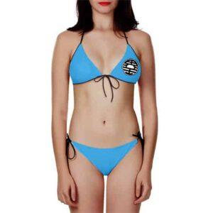 Dragon Ball King Kai's Kanji Symbol Sky Blue Bikini Swimsuit